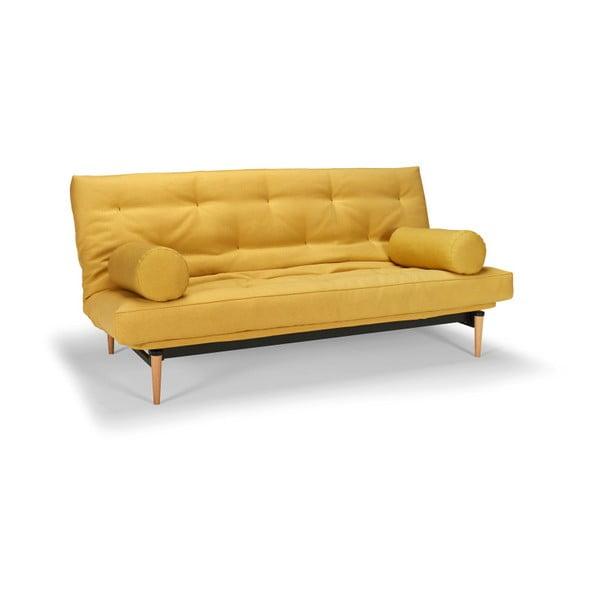 Colpus Soft Mustard Flower citromsárga kihúzható kanapé - Innovation