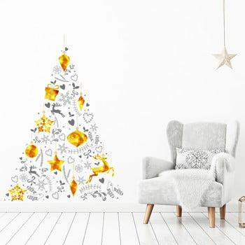 Autocolant de perete cu model pentru Crăciun Ambiance Tree 85 x 60 cm