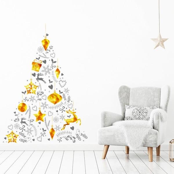 Vianočná samolepka v tvare stromčeka Ambiance, 85 × 60 cm