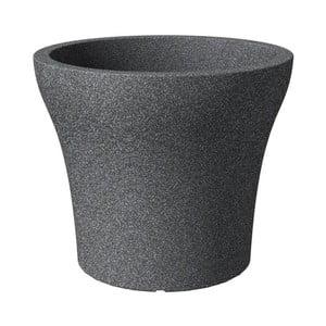Venkovní květináč Stone Granit 30 cm, černý
