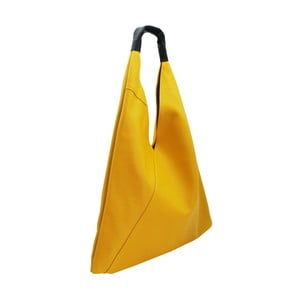 Žlutá kabelka z pravé kůže Andrea Cardone Manna