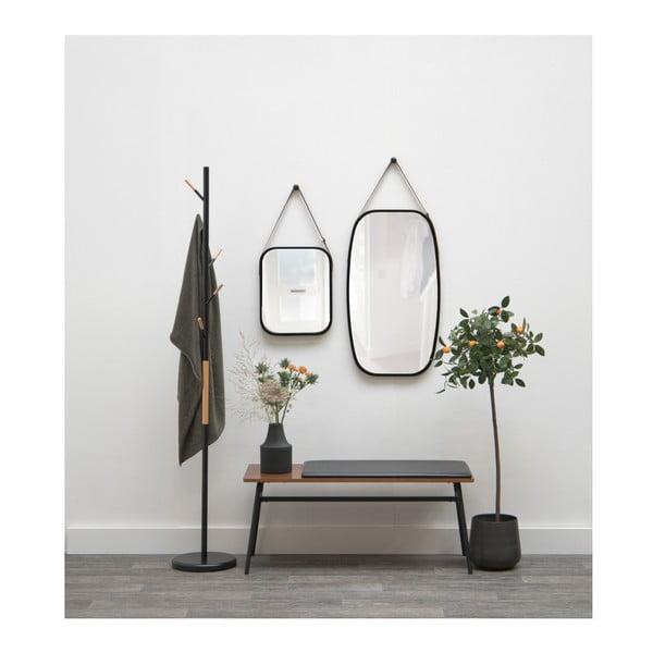 Nástěnné zrcadlo v černém rámu PT LIVING Idylic, délka40,5cm