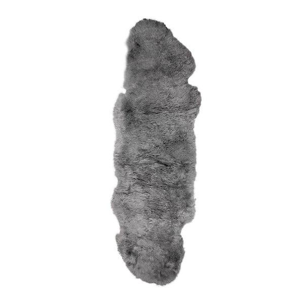 Covor din blană cu fir scurt Dara, 165 x 55 cm, gri