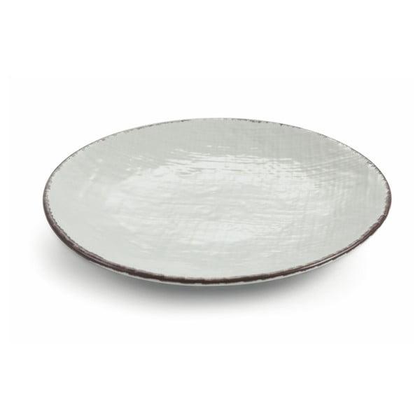 Sada 6 šedých kameninových talířů Villad'Este Canapa