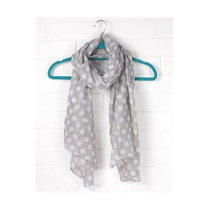 Šátek Polka Dot Pearl  Pearl Grey