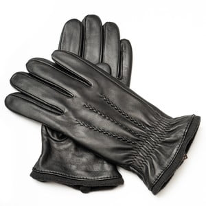 Pánské černé kožené rukavice <br>Pride & Dignity Tom, vel. XL