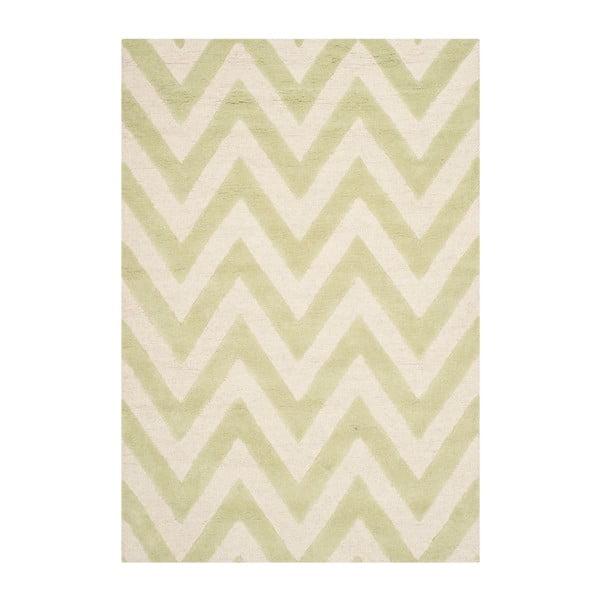 Vlněný koberec Stella Light Green, 121x182 cm