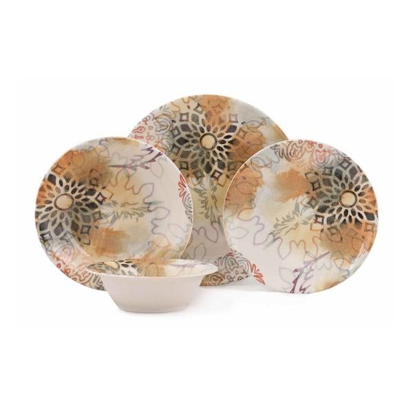 24-częściowy zestaw talerzy porcelanowych Kutahya Luminaro