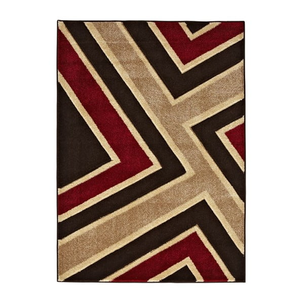 Koberec Matrix Brown Red, 120x170 cm