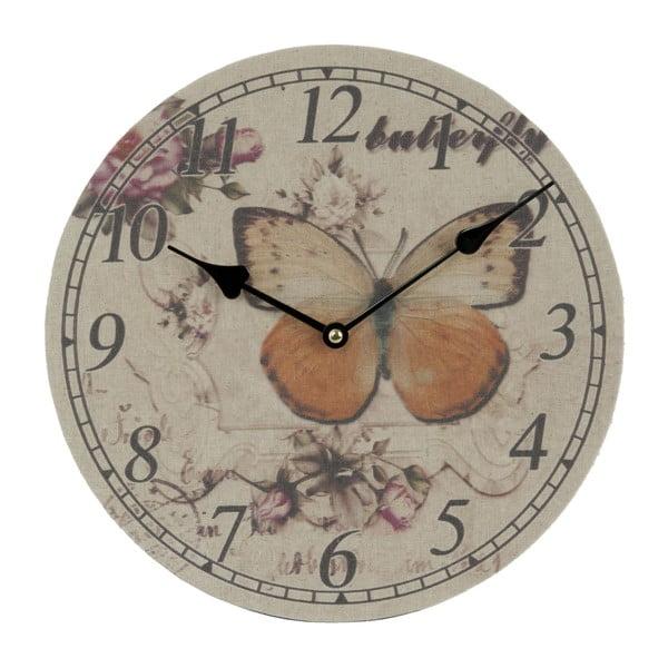 Nástěnné hodiny Butterfly, 29 cm