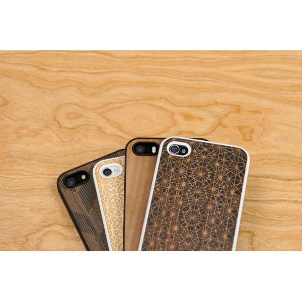 Nalepovací dřevěný kryt na iPhone 5, clementine