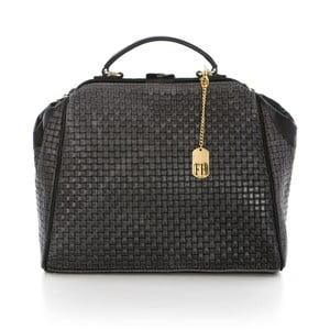 Černá kabelka z pravé kůže Federica Bassi Truio