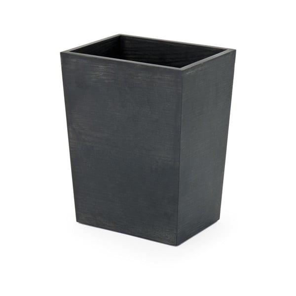 Malý černý odpadkový koš zdubového dřeva Wireworks, výška 28cm