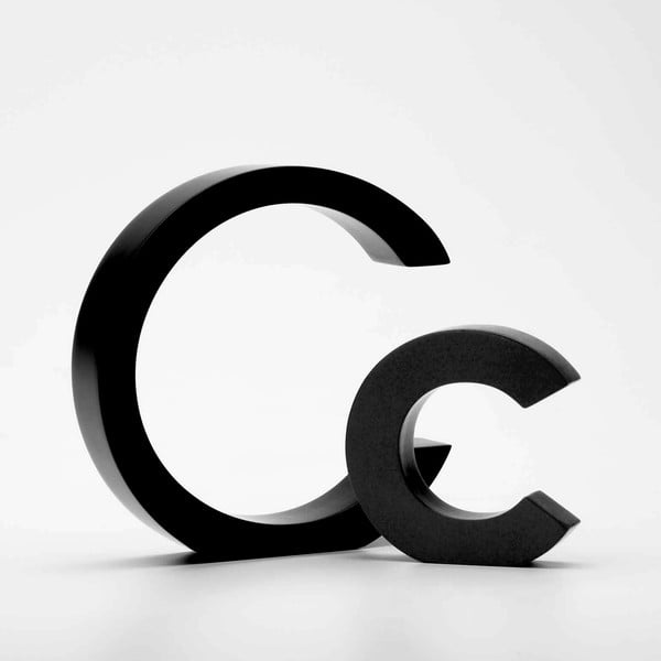 """Velké """"C"""" 13x13 cm, černá"""