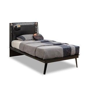 Jednolůžková postel Dark Metal Line Bed, 120 x 200 cm