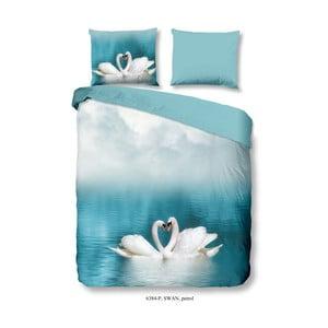 Bavlněné povlečení Good Morning Swan, 200 x 200 cm