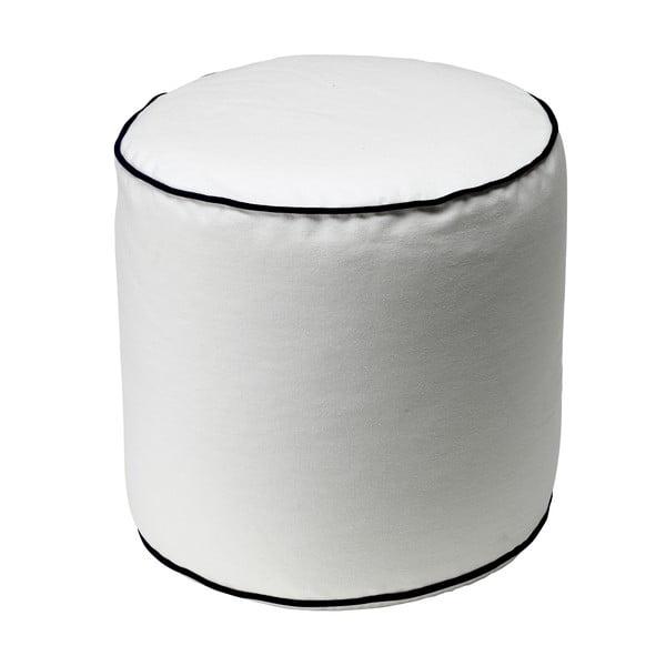 Bílý puf 13Casa Bicolor Cylindre