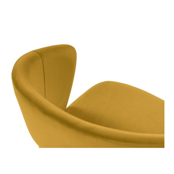 Žlutá jídelní židle se sametovým potahem Windsor & Co Sofas Elpis