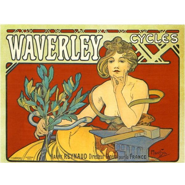 Obraz Waverley Cycles od Alfonse Muchy, 90x120 cm