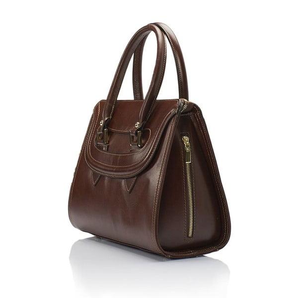 Hnědá kožená kabelka Lisa Minardi Calf