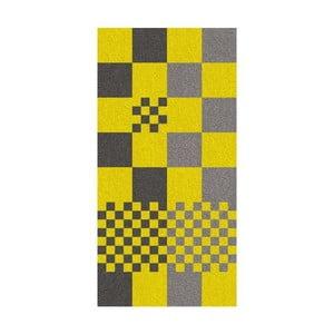 Ručník Ladessa, žlutá kostka, 70x140 cm