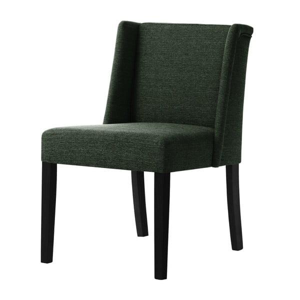 Zelená židle s černými nohami z bukového dřeva Ted Lapidus Maison Zeste