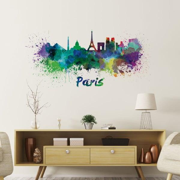 Naklejka ścienna Ambiance Wall Decal Paris Design Watercolor, 40x85 cm