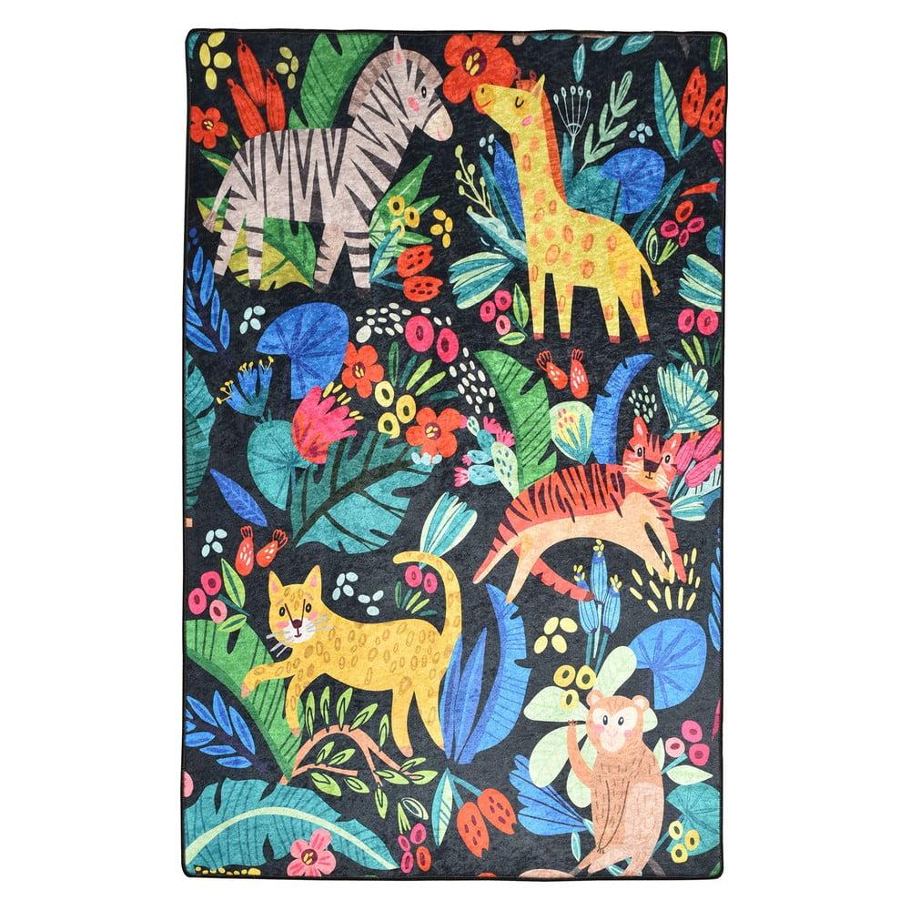 Dětský protiskluzový koberec Chilai Zoo,140x190 cm