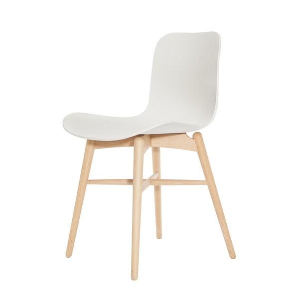 Scaun din lemn de fag NORR11 Langue Natural, alb