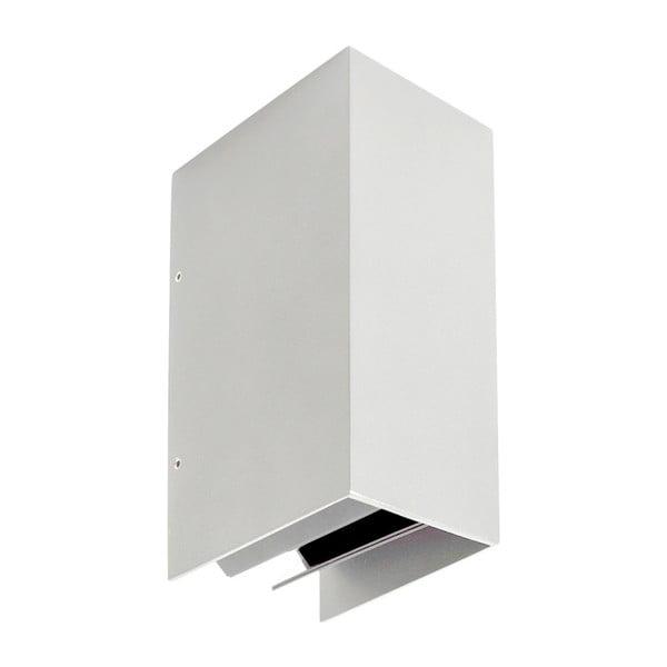 Biały kinkiet SULION Cobfrost, 17,2x10,8 cm