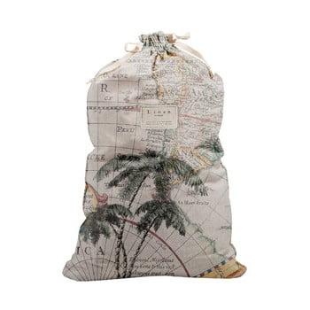 Săculeț textil pentru haine Linen Couture Bag Palm Trees, înălțime 75 cm imagine