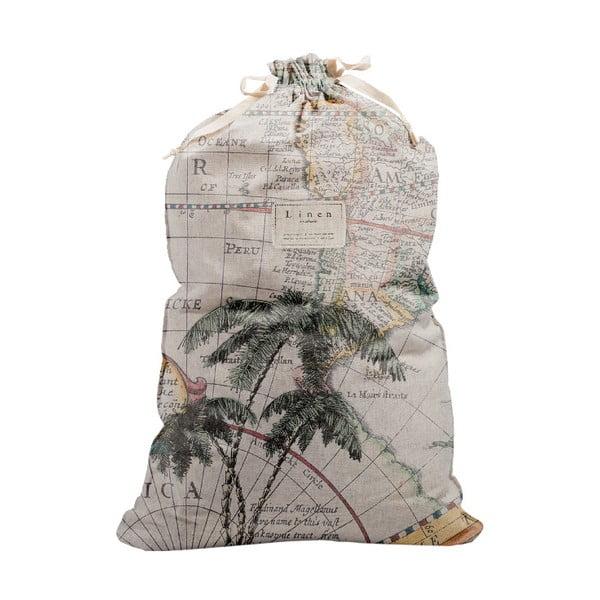 Săculeț textil pentru haine Linen Couture Bag Palm Trees, înălțime 75 cm