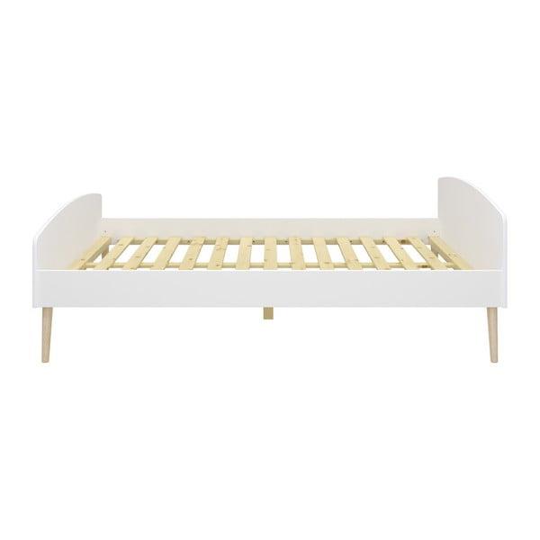 Białe łóżko jednoosobowe Steens Soft Line, 140x200 cm