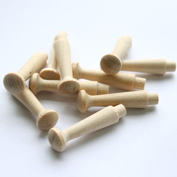 Sada 10 dřevěných kolíčků
