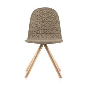 Béžová židle s přírodními nohami IKERMannequinTriangle
