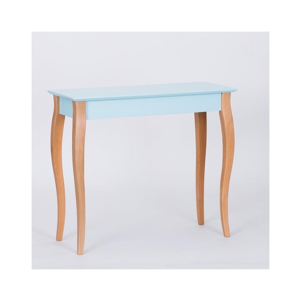 Světle tyrkysový konzolový odkládací stolek Ragaba Console, délka 85 cm