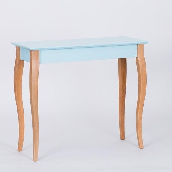 Světle tyrkysový konzolový odkládací stolek Ragaba Console,délka85cm