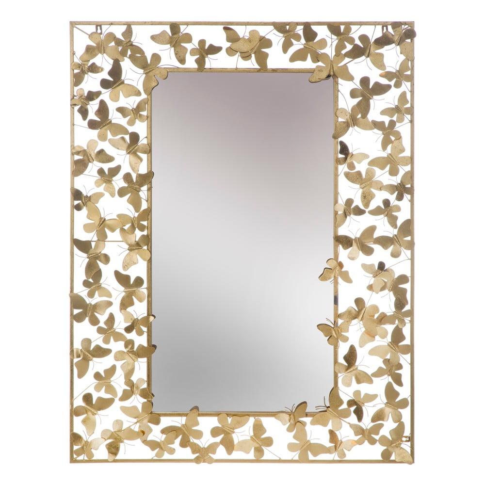 Nástěnné zrcadlo ve zlaté barvě Mauro Ferretti Butterfly Glam, 85x110 cm