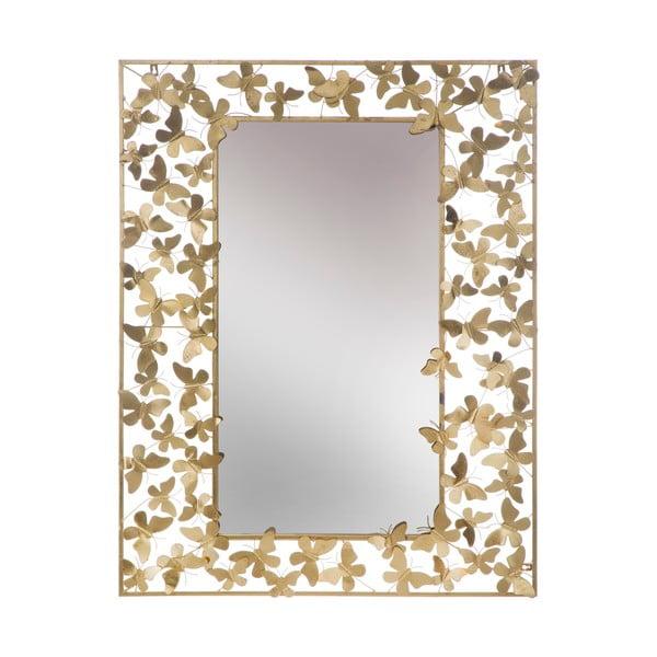 Butterfly Glam aranyszínű falitükör, 85 x 110 cm - Mauro Ferretti