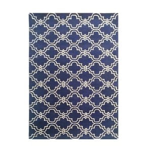 Tmavě modrý ručně tuftovaný koberec Bakero Miami, 120x180cm