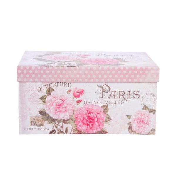 Sada 3 úložných krabic Romantic Roses