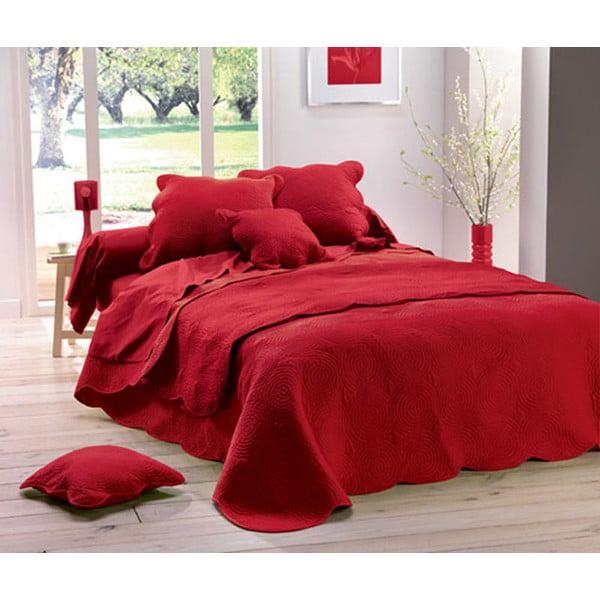 Přehoz Boutis Uni Rouge, 220x240 cm