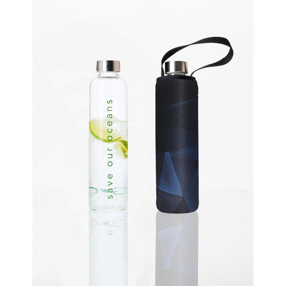 Cestovní lahev z borosilikátového skla s obalem BBBYO Prism, 750 ml