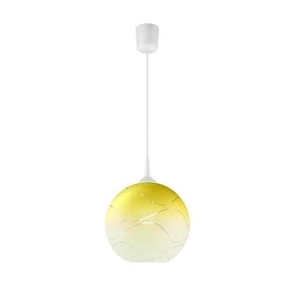 Żółta okrągła lampa wisząca Lamkur Waves