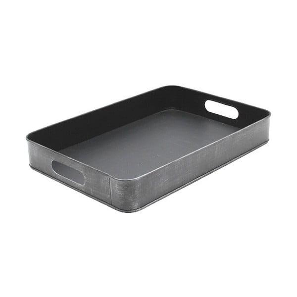 Tavă metalică pentru servit LABEL51, 39x27cm, gri