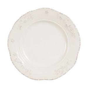 Bílý dezertní talíř Comptoir de Famille Lise, 19,5 cm