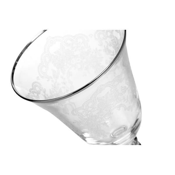 Sada 6 skleniček na víno Mezzo Crystal, 350 ml
