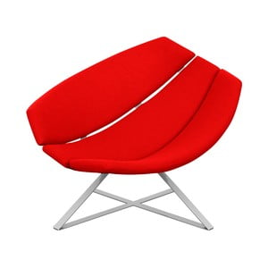 Fotoliu pentru relaxare Softline Radar, roșu