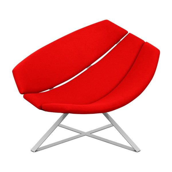 Červené relaxační křeslo Softline Radar