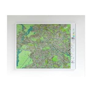 Zelená magnetická mapa Berlína Street Map, 130x100cm